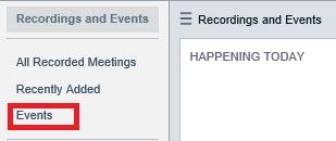 Screenshot crop showing events options